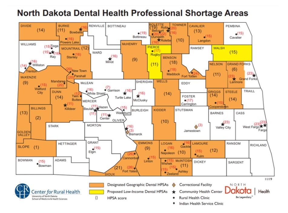 Professional Shortage Area Map